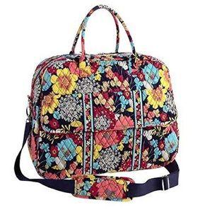 Vera Bradley Happy Snails Grand Traveler Bag